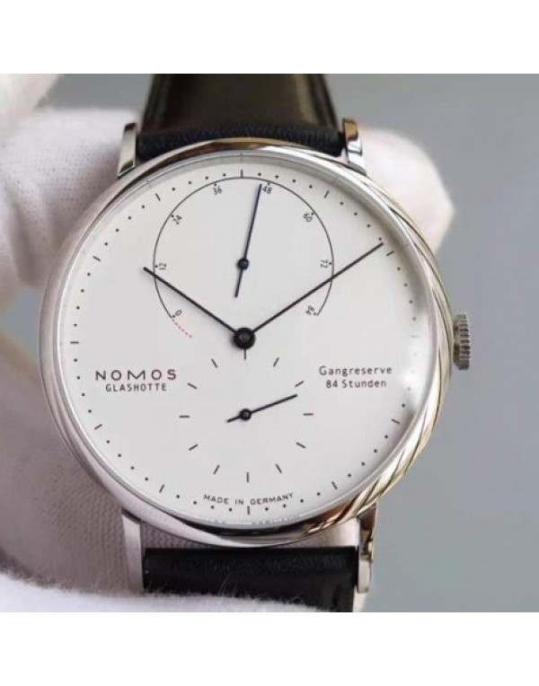 Replica Nomos Lambda Stainless Steel White Dial Ge...