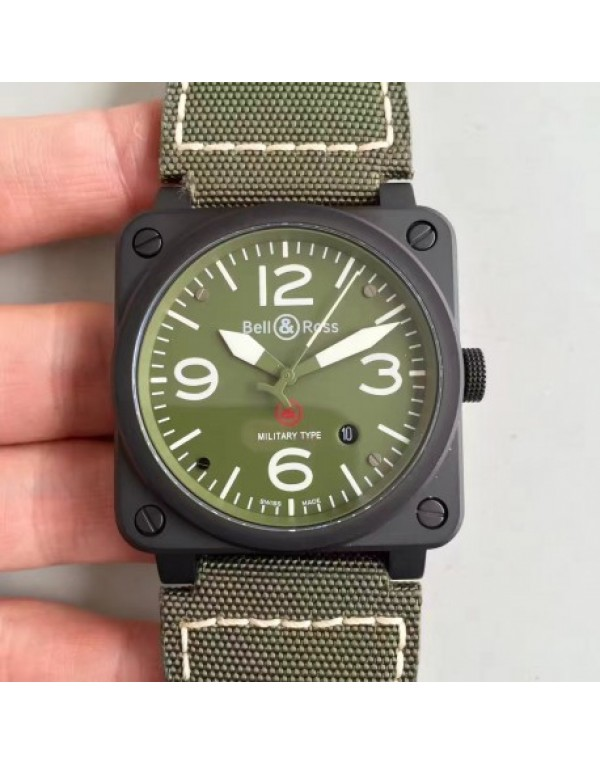 Replica Bell & Ross Aviation Military Type BR ...